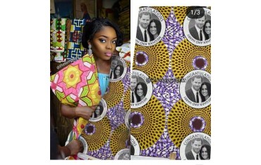 Royal Wedding fabric appears on Ghanaian textile market