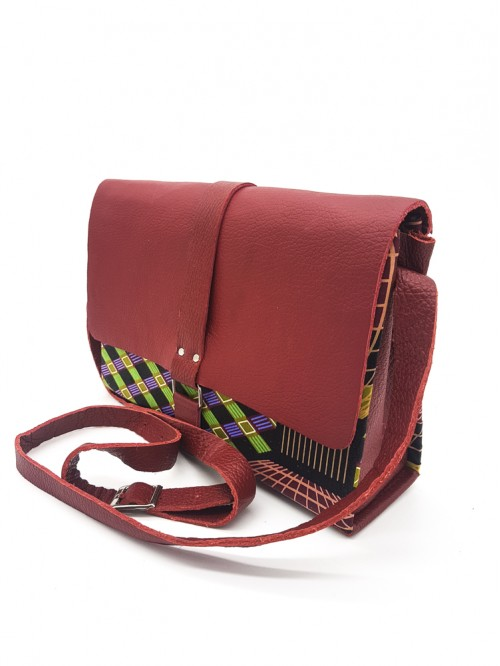 Pottry Box Bag II (Maroon Leather)