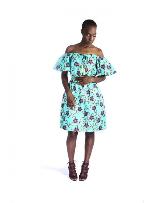 OffOn Shoulder Floral Dress