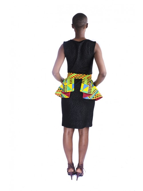 Kente Peplum Belt