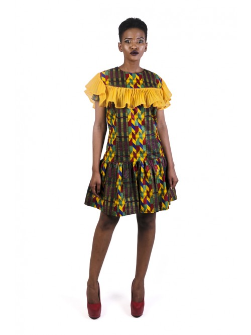 Kente Fringe Dress