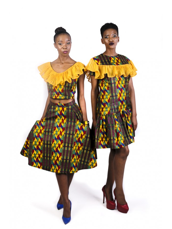Kente Triangular Skirt